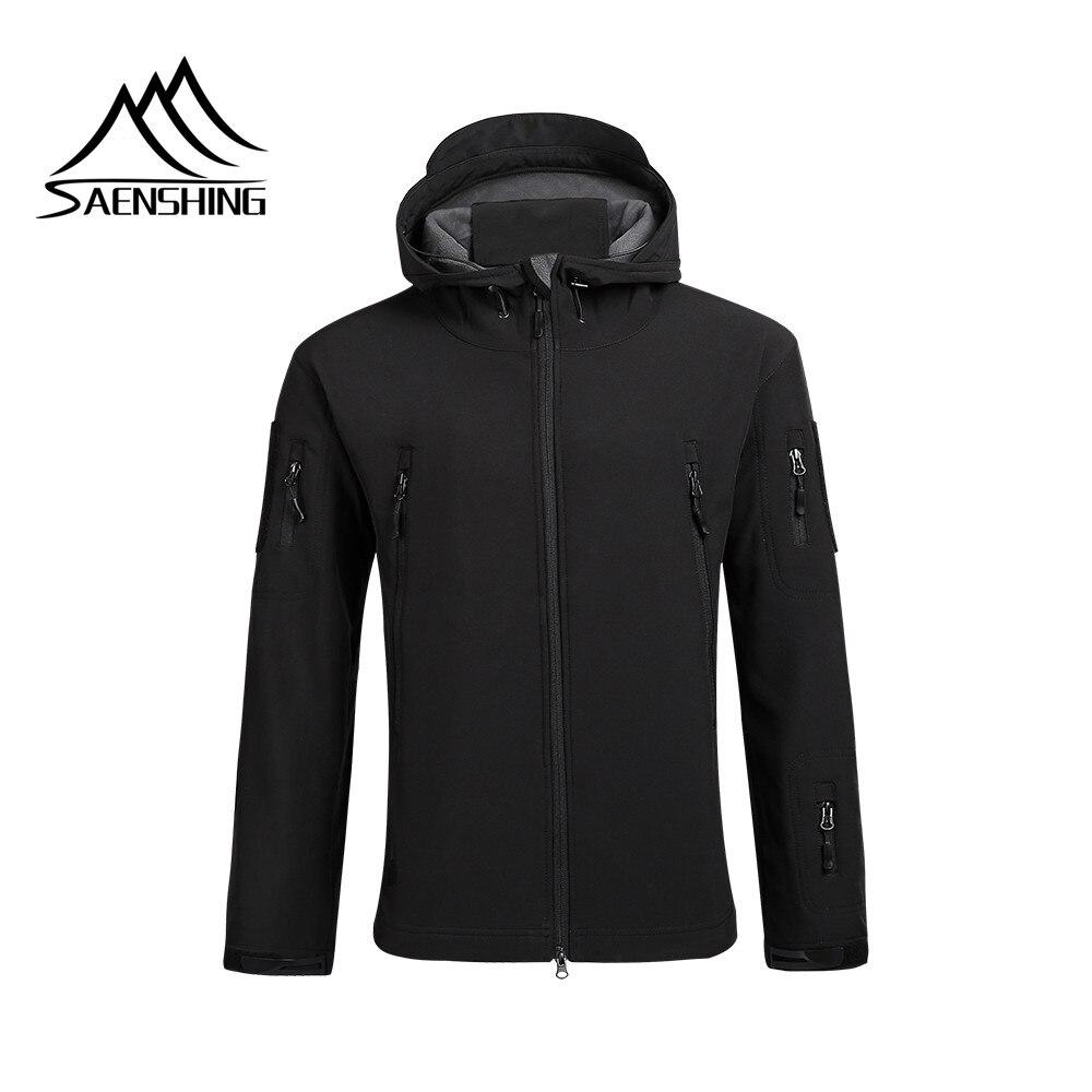 SAENSHING Водонепроницаемый тактическая куртка Для мужчин флисовая ветровка руно Пеший Туризм куртка дышащий Открытый Рыбалка дождевик