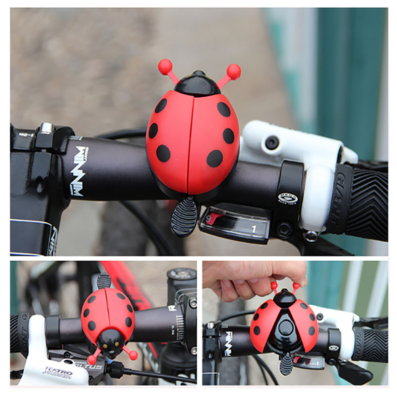 Cute Ladybird Lady Bug Bells Kids Bike Bicycle Bell Ring Ringer Bicycle Accessories