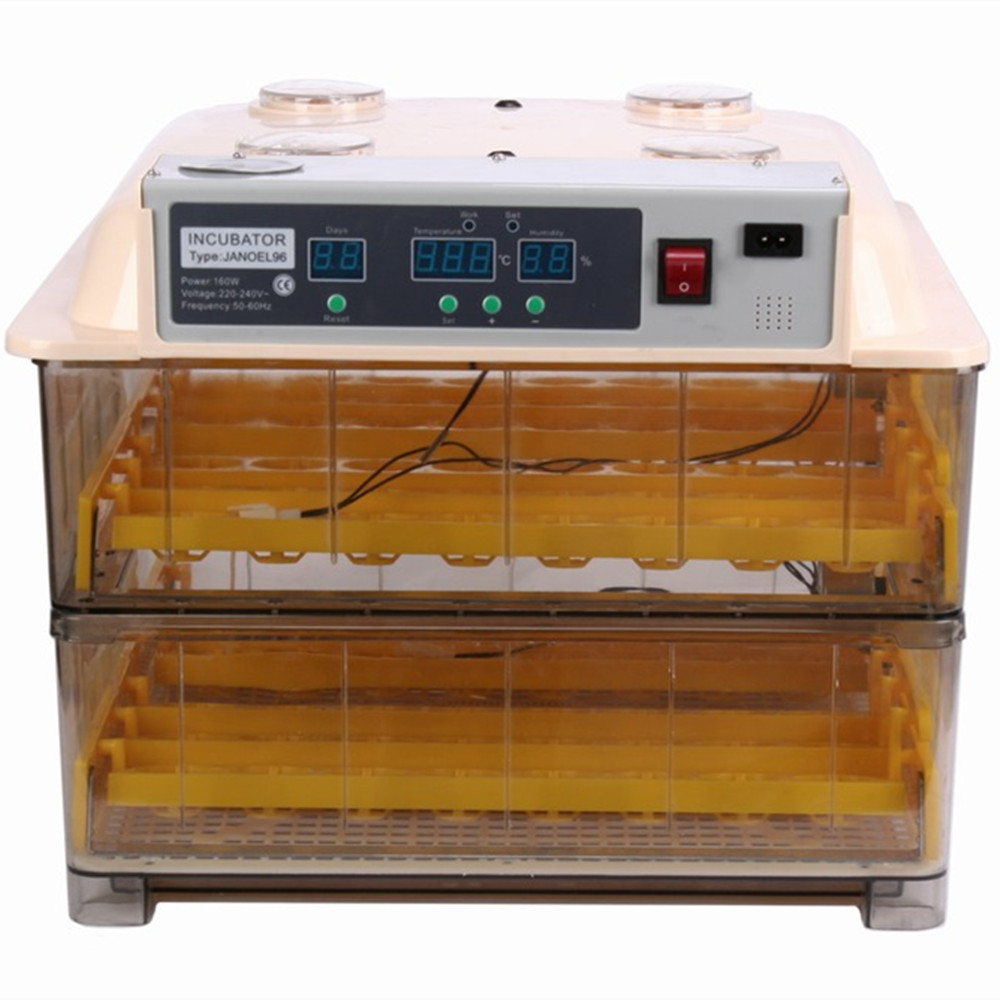 New Design Hot selling 96 Eggs Incubator Fully Automatic Turner Poultry Chicken Duck Bird Egg Hatcher Brooder 60 eggs incubator new design jn5 60 mini egg incubator poultry hatcher egg chicken quail duck incubator