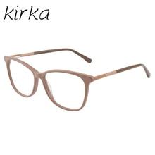 Kirka 2017 Fake Glasses Acetate Vintage Lady Eyegwear Frame Clear Men Reading Optical in High Quality