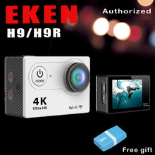 Original EKEN H9/H9R Remoto Cámara de Acción Ultra HD 4 K WiFi 1080 P/60FPS 2.0 LCD Lente 170D Sport Cam Ir Impermeable Pro cámara
