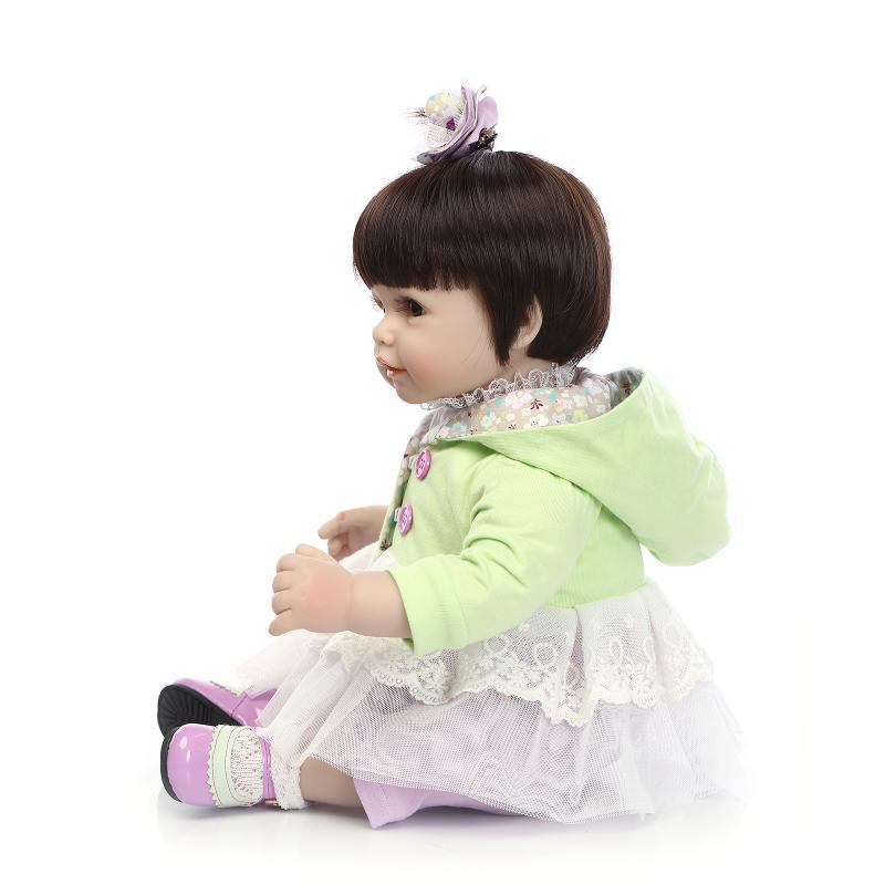 Reborn Toddler 20inch Silicone Reborn Doll 50cm Princess Baby Lifelike Newborn Realista Babies Doll Toys Doll Reborn Brinquedos