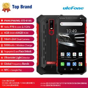 "Image 2 - Ulefone שריון 6E IP68 עמיד למים 6.2 ""Smartphone אנדרואיד 9.0 Helio P70 4GB 64GB פנים מזהה NFC אלחוטי מטען נייד טלפון"