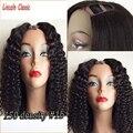 Mongolian Kinky Curly U Part Wig Unprocessed Virgin U Part Human Hair Wigs Glueless Afro Kinky Curly Upart Wig For Black Women