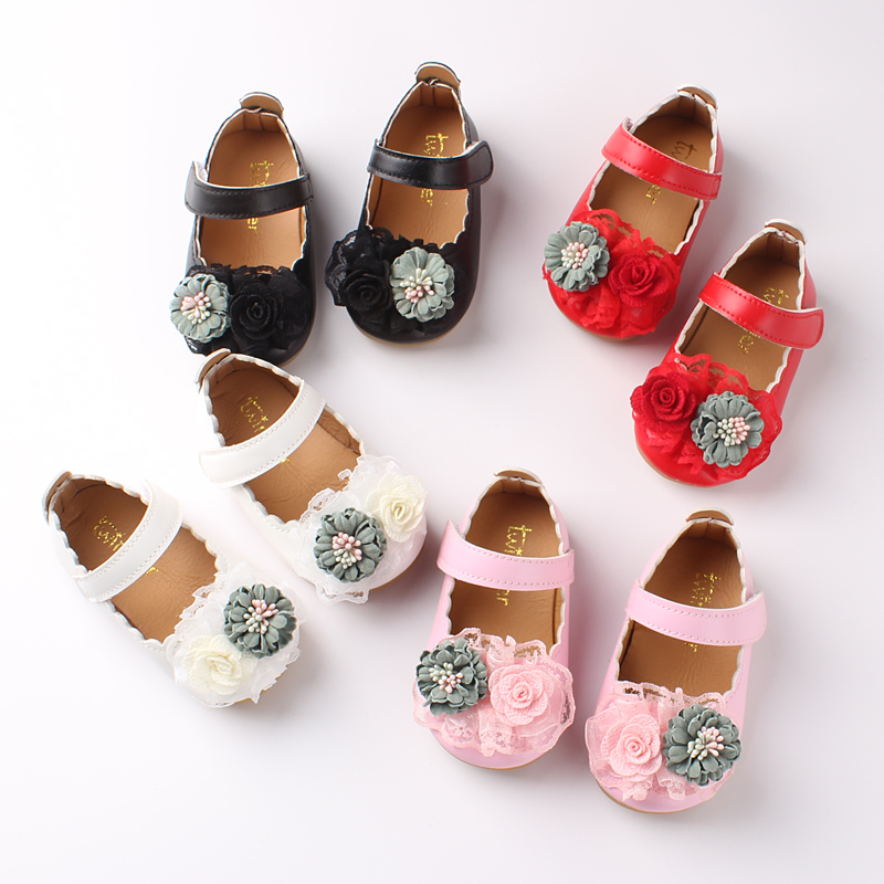 Children Shoes Girls Party Dress Shoes Baby Toddler Girl Bow Flats Girls Princess Shoes New Arrival Spring Autumn  Ct2252