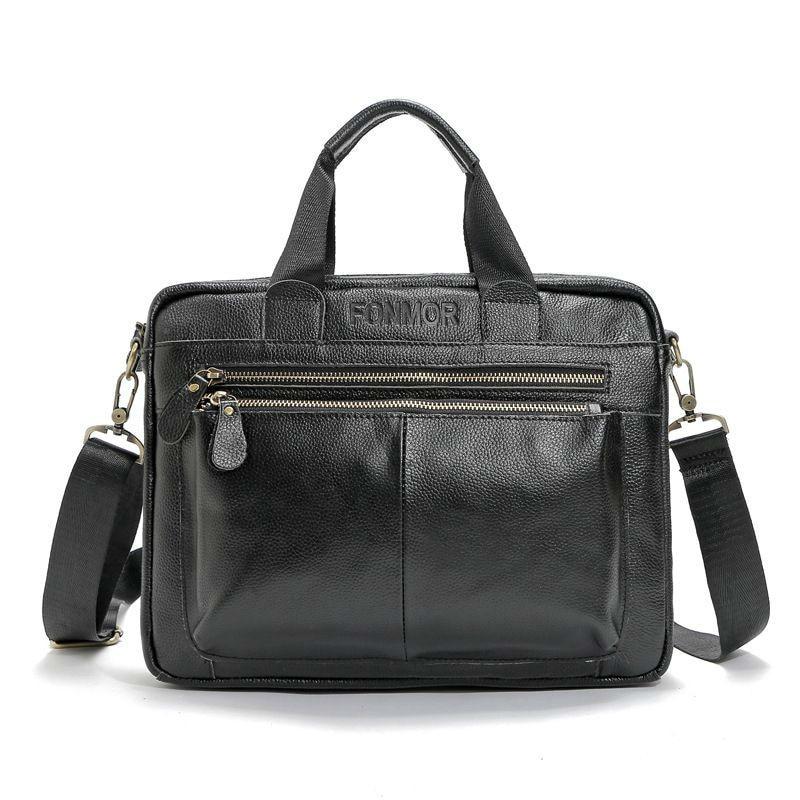 Brand Cow Genuine Leather Men Shoulder Bags Man Business Handbags Real Leather Soft Crossbody Messenger Bag Top-handle Bolsa