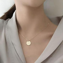 Fashion Gold Color Coin Necklace Disc Pendant Layering Necklaces Party Jewelry for Women
