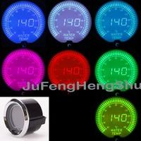2 52mm Colorful Water Temperature Gauge 12V Car Celsius LED Light 2 Inches Instrument Tint Lens
