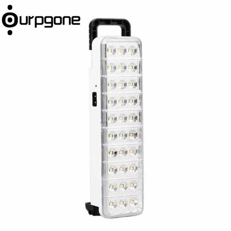 Ourpgone Brand 1*Hiking Outdoor Tools 30 LED Torch Rechargeable Emergency Light Lamp 2 Mode for Home Outdoor Free shipping!