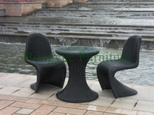 Outdoor rattan garden table chair designs,wicker table chair