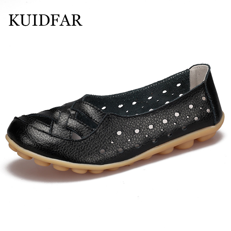KUIDFAR Women flats 2017 Genuine Leather Flats Soft slip on Mother Moccasins Loafers  Oxford Driving Footwear women shoes women s platform flats loafers genuine leather slip on brogues shoes for women female footwear brand designer moccasins calzados