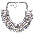 2017 de la Moda de Lujo Exagerado Collar de Múltiples Capas Bohemio Maxi Lrregular Bolas Collar de la Declaración Para Las Mujeres Joyería Hecha A Mano