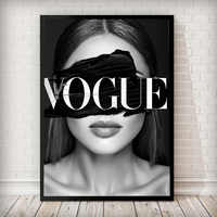 Canvas Painting Fashion Girl Portrait Nordic Wall Pop Art COCO Poster Prints Vogue Decoration Picture For Living Room Decorative