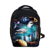 3D Print Space Backpack For Teenagers Boys School Bags Backpack Kindergarten Kids Waterproof Backpacks Rock Mochila Escolar