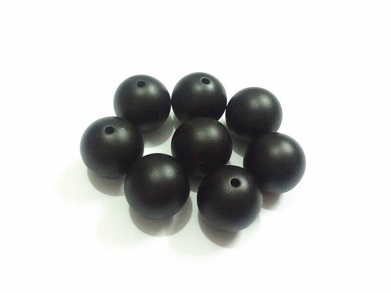 (Choose Size First) 12mm/16mm/20mm  Black  Matt  Acrylic Pearl Beads(Choose Size First) 12mm/16mm/20mm  Black  Matt  Acrylic Pearl Beads