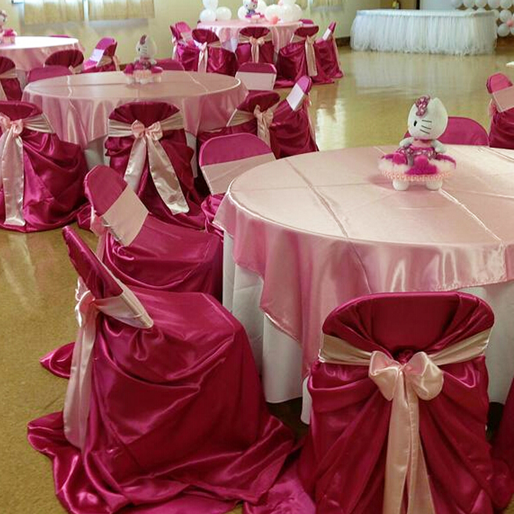 chair cover express hawaii home depot lawn chairs 1 pcs self tie satin wedding banquet hotel party decoration product supplies 110cm 140cm in from garden on aliexpress com