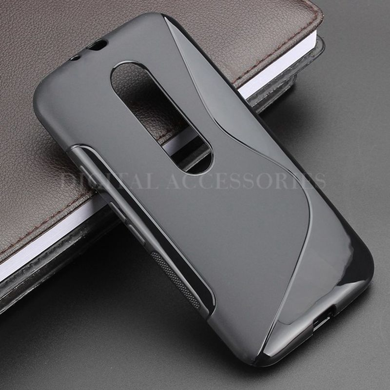 new product 1e5aa 76f09 US $1.98 |8 Color S Line Skidding Gel TPU Slim Soft Case Back Cover For  Motorola Moto G3 Case G 3rd Gen XT1541 Rubber silicone Cases-in Fitted  Cases ...