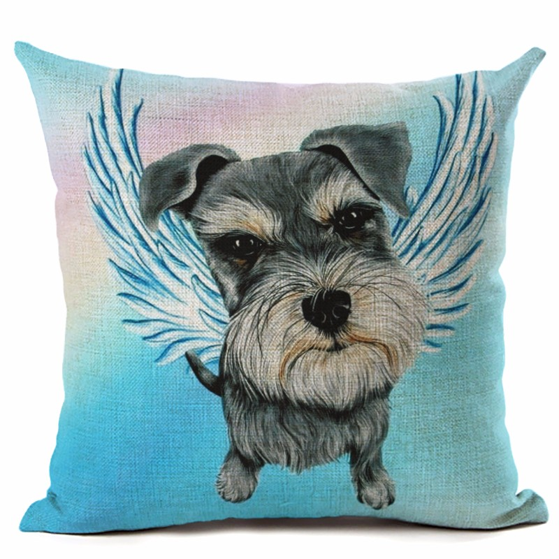Cute dog angel wings series two printed linen cotton for Homeware decor