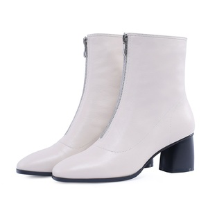 Image 3 - MORAZORA حجم كبير 34 42 جديد ماركة الموضة كامل بوط من الجلد الطبيعي حذاء نسائي بكعب عالٍ السيدات حذاء من الجلد للنساء أحذية الشتاء