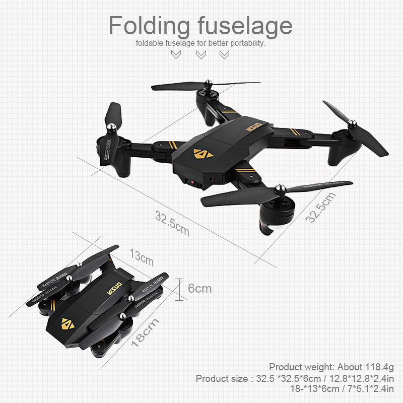 Visuo XS809W XS809HW Quadcopter Mini Foldable Selfie Drone with Wifi FPV 2MP Camera Altitude Hold RC Dron Vs JJRC H47 E58 2