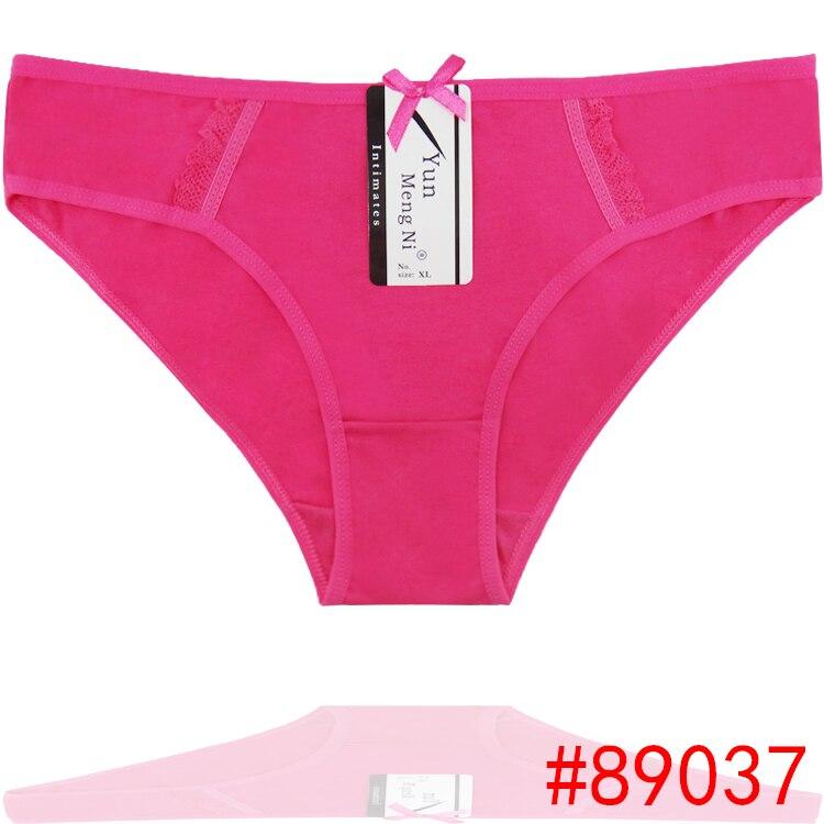 Pacote de 4 algodão biquíni senhora curta breve senhora calcinhas baixo  crescimento das mulheres underwear esticada ddee2e43eb8