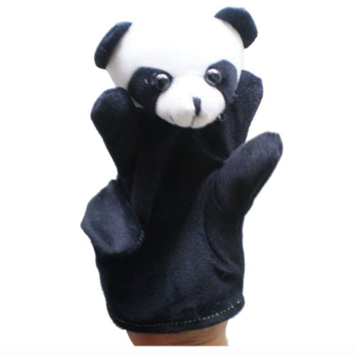 Cute Baby Child Zoo Farm Animal Hand Sock Glove Puppet Finger Sack Plush Toy Newmodel:panda Action & Toy Figures