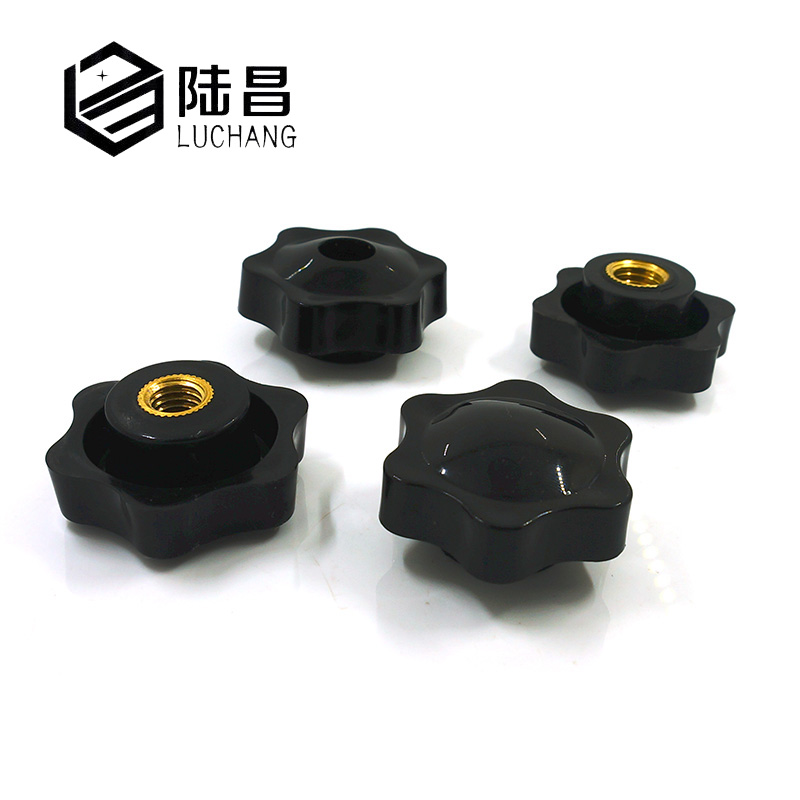 10PCS M5 M6 M8 M10 M12 Plum Bakelite Hand Tighten Nuts Handle Thread Star Mechanical Black Thumb Nuts Clamping Knob Manual Nuts
