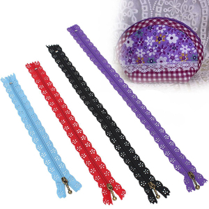 10pcs Colorful Nylon Lace Edge Zipper Puller 2.5cm Width 20/25/30/35cm Length For DIY Craft Zip Tailor Sewing Tool
