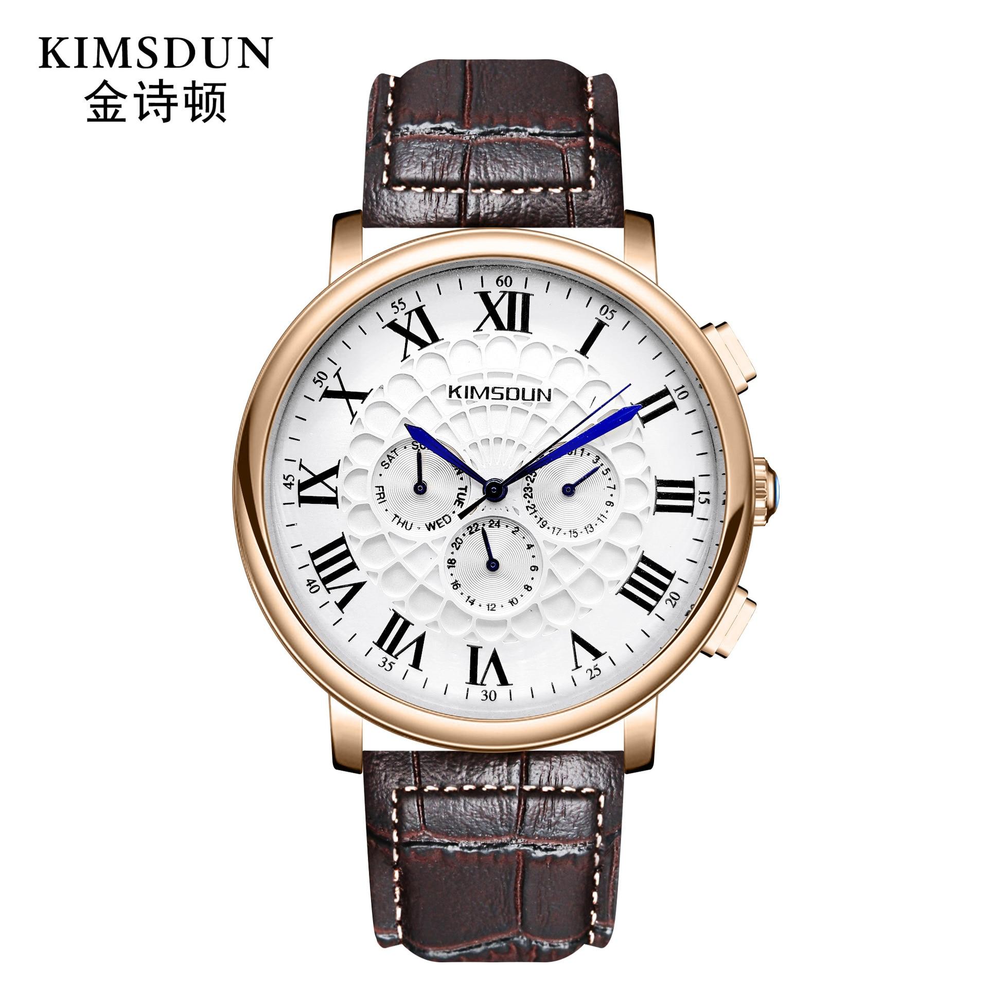 KIMSDUN Automatic Mechanical Watch Men Luxury Brand Business Waterproof Designer Watch Men Fashion Watches Mens New Arrvial 2019