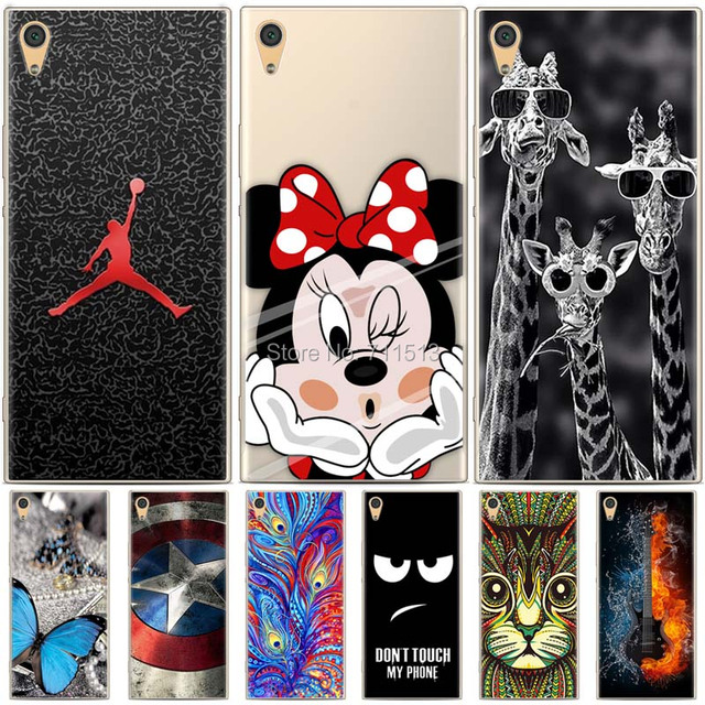 check out ea268 efa14 US $1.7 10% OFF|Silicon cover for Sony Xperia xa1 case cartoon painted soft  tpu case for Sony xperia xa1 cover for 5.0 sony xperia xa1 dual case-in ...