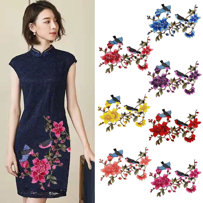2019 New Fashion DIY Applique Water Soluble Embroidery  Costume Decoration Luxury Wedding Dress Colorful Decals  Accessories