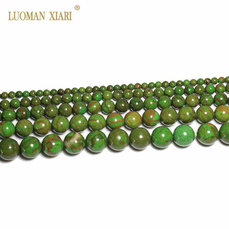 Nowy kamień naturalny koraliki okrągłe Phoenix Jades koraliki do tworzenia biżuterii dla Beadwork bransoletka Zrób To Sam naszyjnik 4mm 6mm 8mm 10mm 12mm