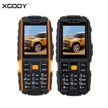 Xgody A9 прочный Водонепроницаемый ударопрочный Телефон МТК FM Bluetooth 4800 мАч фонарик GSM Dual SIM мобильный телефон
