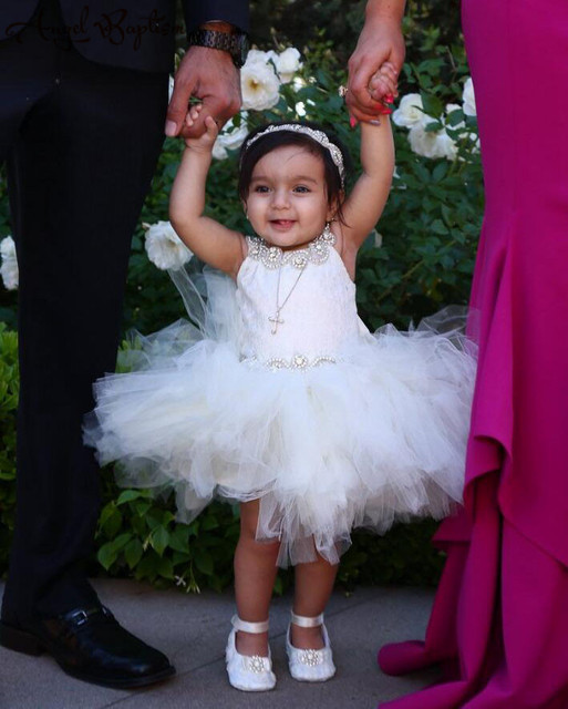 Ball gown puffy whiteivory voile baby christening dress infant ball gown puffy whiteivory voile baby christening dress infant baptism gown tutu flower girl mightylinksfo