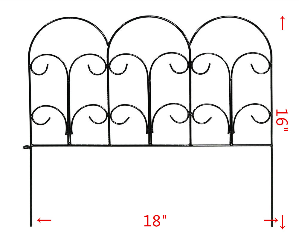Decorative Garden Fence Outdoor Coated Metal Rustproof Landscape Wrought Iron Wire Border Folding Patio Fences fences fences lesser oceans lp