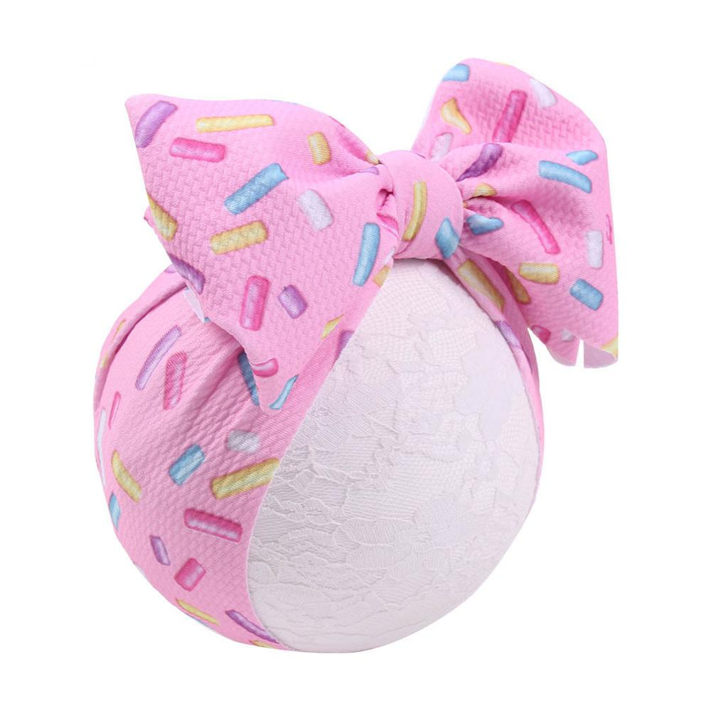 7Inch Big Bow Headband For Girls Unicorn Print Large Hair Bows Elastic Turban Head Wraps Kids Top Knot Hairband Hair Accessories