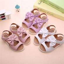 Girls Shoe Casual Summer Kids Children Sandals Fashion PU Bowknot Girls Flat Pricness Shoes For Party Dropshipping 0130
