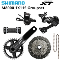 SHIMANO Deore XT M8000 Transmission Groupset Group 11 speed GS Derailleur 1x11s 11 40/42/46t 165/170/175mm