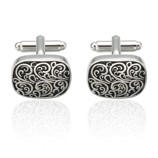 Memolissa Novelty Cuff Links Stainless Steel Old Craftsman Hand Laser Engraving Cufflinks French Suit Men's Jewelry