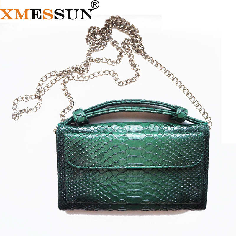 5c4f3150be99 Bolsa Feminina из натуральной кожи Для женщин Сумочка Женская мода цепь  сумка Роскошные Дизайнерские крокодиловая сумка