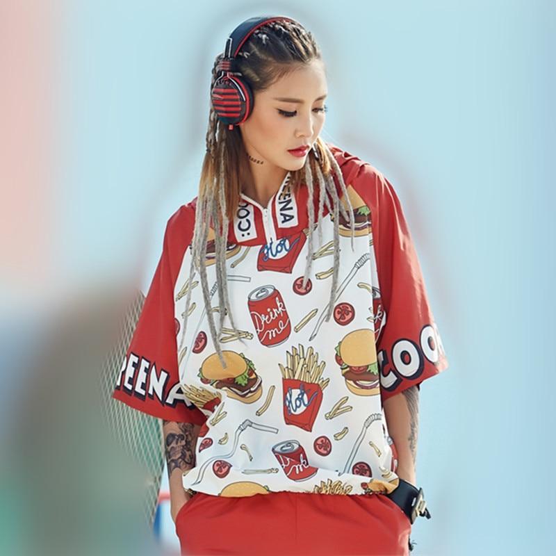 just be never korean style clothing women kawaii harajuku sweatshirts for girsl red fashionable tops hooded