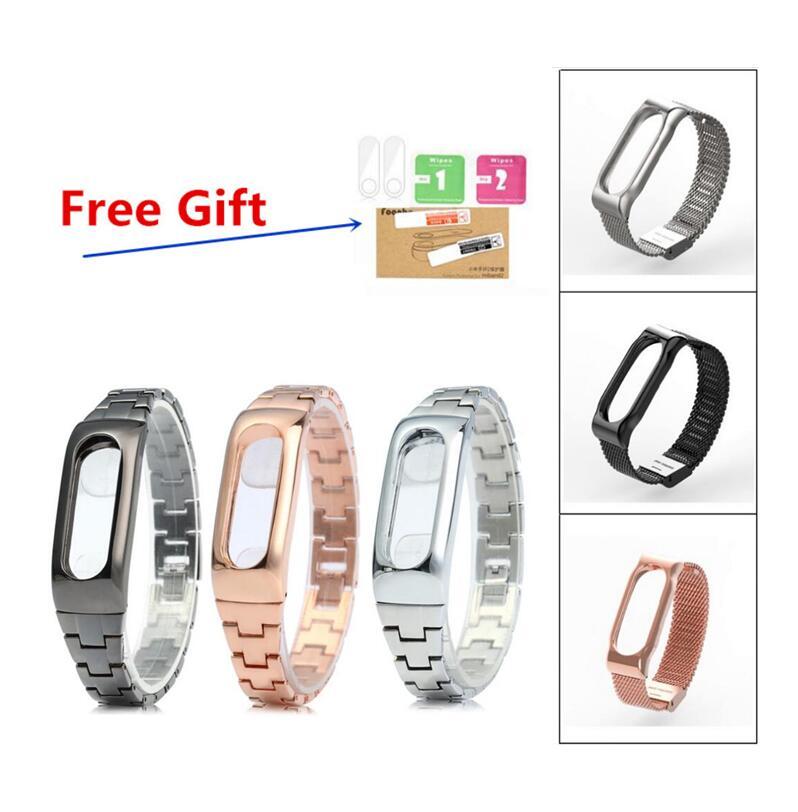 Xiaomi Mi band 2 armband Armband metall Edelstahl Silikon Lederarmband Armband Displayschutzfolie geschenk