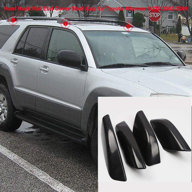 For <font><b>Toyota</b></font> <font><b>4Runner</b></font> N210 Roof Rack Rail End Cover Shell Cap 2003 2004 2005 2006 <font><b>2007</b></font> 2008 2009 Car Auto Accessories Silver ONLY image