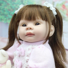 NPK Doll Reborn Baby Doll Realistic Soft Silicone Reborn Babies Girl 22 Inch 55cm Adorable Kids Brinquedos Toy