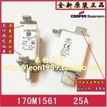 цена на [SA]United States BUSSMANN Fuses 170M1561 170M1561D 25A 690V ~ 700V fuse--3PCS/LOT