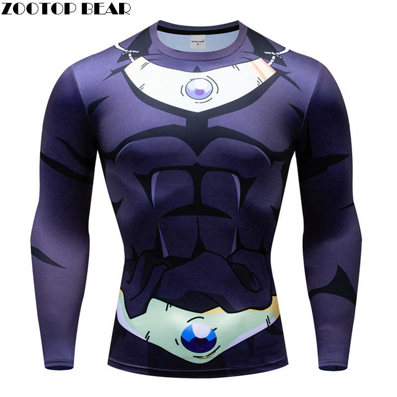 Dragon Ball t shirts Men Compression T-shirts 3d Long Sleeve Tops Tees Superman tshirts Fitness shirts Drop Ship ZOOTOP BEAR