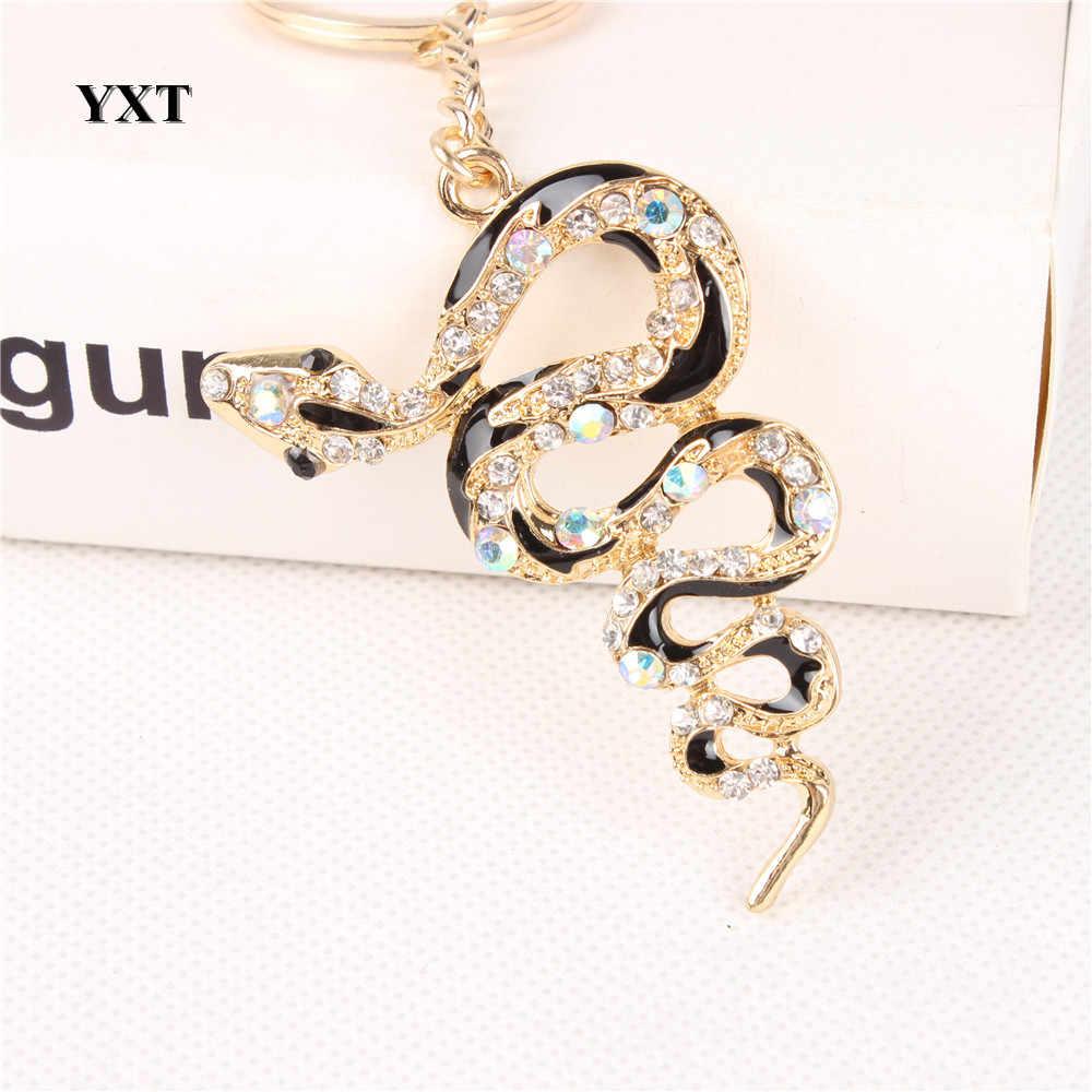 Nova Serpente Fortune Bonito Cristal Pingente Encanto Bolsa Bolsa Chave Do Carro Chaveiro Chaveiro Criativo Sorte Dom Coleção