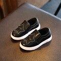 Meninos meninas pu de couro casual shoes crianças shoes sneakers moda luz plana mocassins crianças respirável escola
