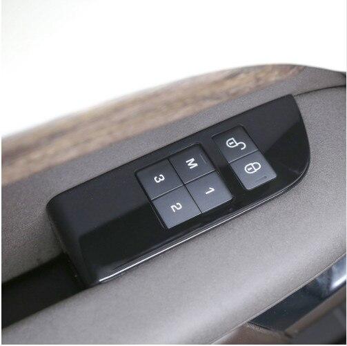 Piano noir voiture enfant sécurité porte serrure interrupteur panneau couvercle garniture pour Land Rover Discovery 5 2017-2018 accessoires de voiture 4 pièces/ensemble