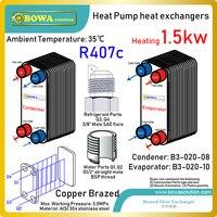 5000BTU R407c de transferência de calor entre o gás e propileno água/glicol 50% PHEs são utilizados em casa equipamentos de energia integrado|plate maker|plate protectors|plate clutch -